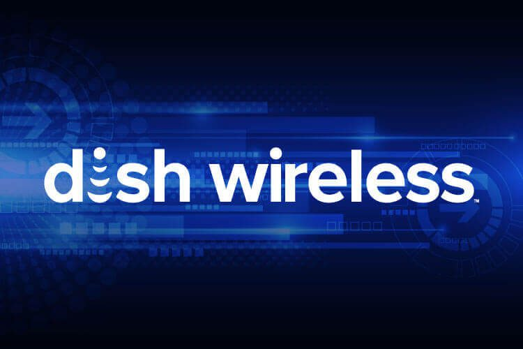 DISH Wireless graphic moving into the future