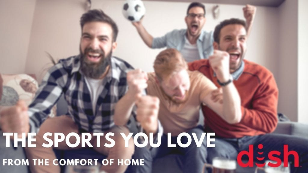 Enjoy watching TV from your couch with DISH Network Sports Packages
