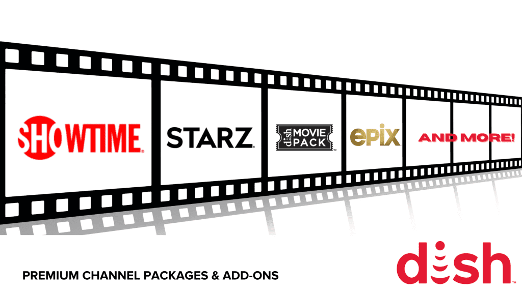 Featured DISH premium channel packages logos